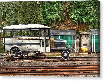 Train - Car - The Rail Bus Canvas Print by Mike Savad