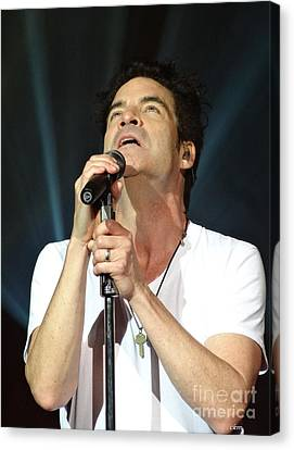 Train's Pat Monahan Canvas Print by Cindy Manero