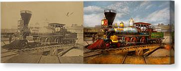 Canvas Print - Train - Civil War - Em Stanton 1864 - Side By Side by Mike Savad