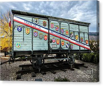 Train De La Reconnaissance Francaise - Ogden - Utah Canvas Print by Gary Whitton
