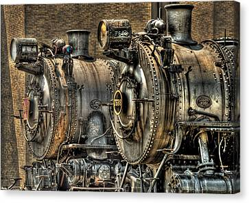 Train - Engine - Brothers Forever Canvas Print by Mike Savad