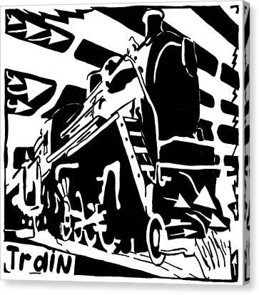 Train Maze Canvas Print by Yonatan Frimer Maze Artist