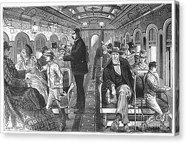 Train: Passenger Car, 1876 Canvas Print by Granger