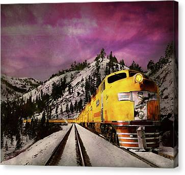Canvas Print - Train - Retro - Travel With Style 1940 by Mike Savad
