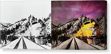 Canvas Print - Train - Retro - Travel With Style 1940 - Side By Side by Mike Savad