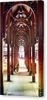 Train Station Arch Way Canvas Print by Tom Gari Gallery-Three-Photography