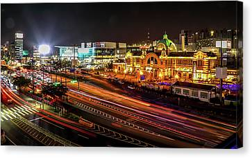 Night-scape Canvas Print - Train Station In Seoul by Hyuntae Kim