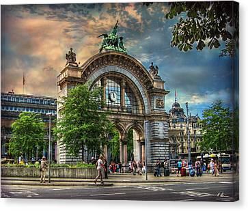 Train Station Portal Canvas Print by Hanny Heim