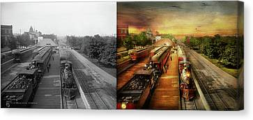 Canvas Print - Train Station - The Romance Of The Rails 1908 - Side By Side by Mike Savad