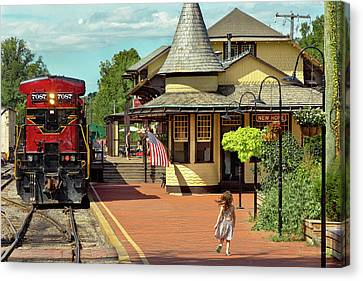 Train Station - There Will Always Be Hope Canvas Print by Mike Savad