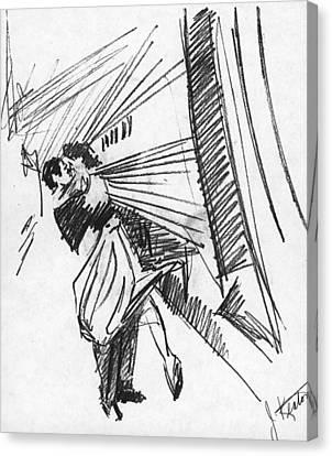 Train Stop Canvas Print by John Keaton
