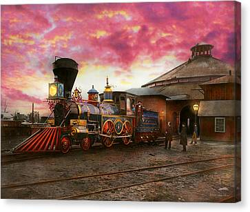 Canvas Print - Train - The Jh Devereux 1862 by Mike Savad