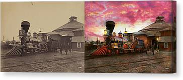 Canvas Print - Train - The Jh Devereux 1862 - Side By Side by Mike Savad