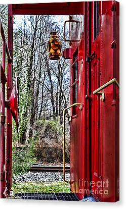 Train - The Red Caboose Canvas Print