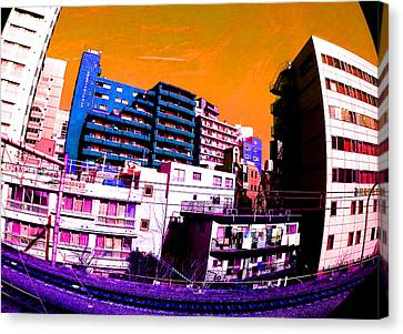Train To Harajuku Tokyo Canvas Print by Jera Sky
