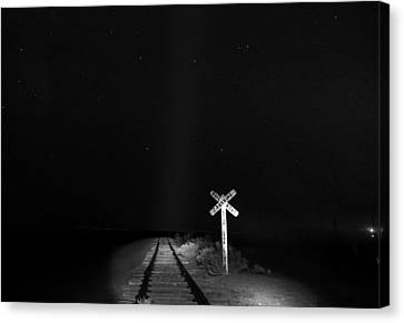 Train To Nowhere Canvas Print by Cat Connor
