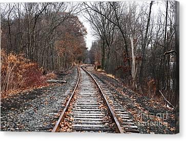 Train Tracks Canvas Print by John Rizzuto