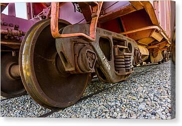 Rail Siding Canvas Print - Train Truck by TL  Mair