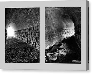 Train Tunnel Diptych Canvas Print by Leland D Howard