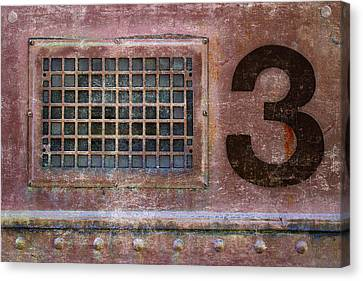 Grid Canvas Print - Train Vent 3 by Carol Leigh