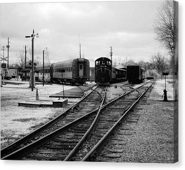 Train Yard Canvas Print by Fred Baird