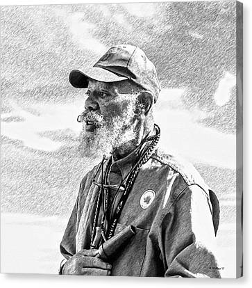 Demo Canvas Print - Trainer - Labrador Retriever - Pencil Fx by Brian Wallace