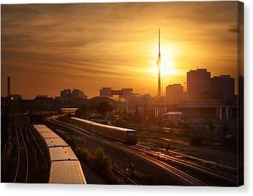 Trains - Berlin Canvas Print by Nico Trinkhaus