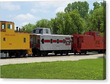 Trains Caboose 13572 Burlinton Route 01 Canvas Print