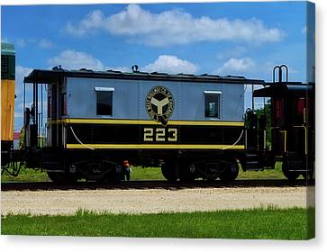Trains Caboose 223 Beltway Of Chicago Canvas Print