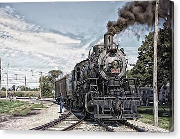 Trains Steam Engine 1630 Canvas Print by Thomas Woolworth