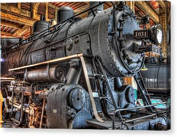 Trains - Steam Locomotive 1031 Side Canvas Print