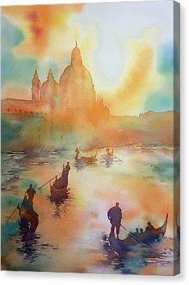 Tramonto Del Sole Canvas Print by Thomas Habermann