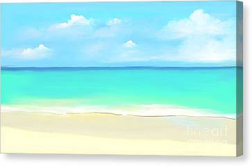 Tranquil Beach Canvas Print by Anthony Fishburne