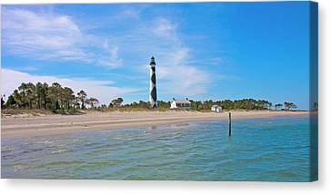 Tranquil Day Cape Lookout Lighthouse 2 Canvas Print by Betsy Knapp