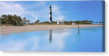 Tranquil Day Cape Lookout Lighthouse Canvas Print by Betsy Knapp