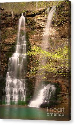 Tranquil Falls In Vertical Canvas Print by Tamyra Ayles