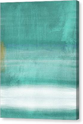 Color Block Canvas Print - Tranquil Horizon- Art By Linda Woods by Linda Woods