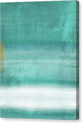 Interior Designer Canvas Print - Tranquil Horizon- Art By Linda Woods by Linda Woods