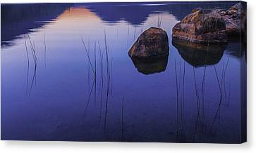 Tranquil In Blue   Canvas Print by Thomas Schoeller