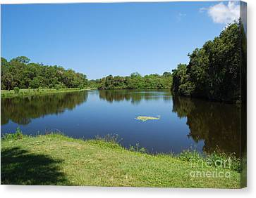 Canvas Print featuring the photograph Tranquil Lake by Gary Wonning