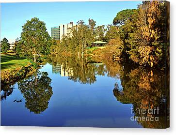 Canvas Print featuring the photograph Tranquil River By Kaye Menner by Kaye Menner