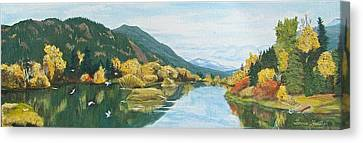 Canvas Print featuring the painting Tranquil Waters by Bonnie Heather