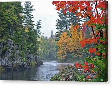 Canvas Print featuring the photograph Autumn Tranquility by Glenn Gordon
