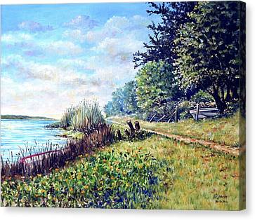 Canvas Print featuring the painting Tranquility by Heidi Kriel