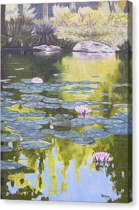 Canvas Print featuring the painting Tranquility IIi Furman University by Robert Decker