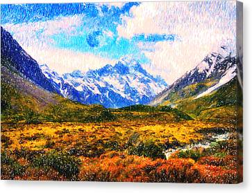 Tranquility In The Highlands Canvas Print