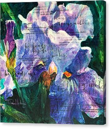 Tranquility - Iris Canvas Print by Trish McKinney