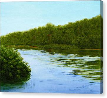 Tranquility On Taylor's Creek Canvas Print by Robin Capecci