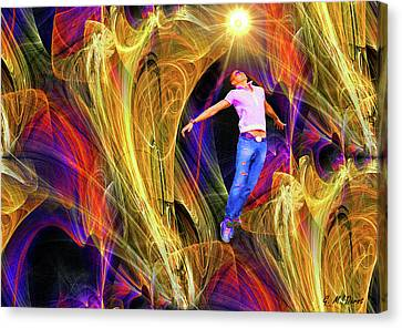 Abstract Digital Canvas Print - Transcendence by Michael Durst
