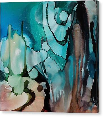 Canvas Print featuring the painting Transcendence Wth Goddess by Suzanne Canner